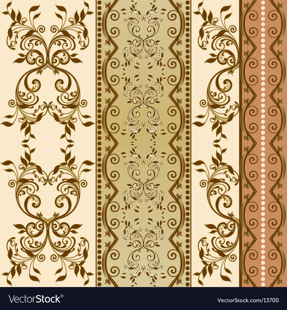Floral decorative wallpaper Royalty Free Vector Image