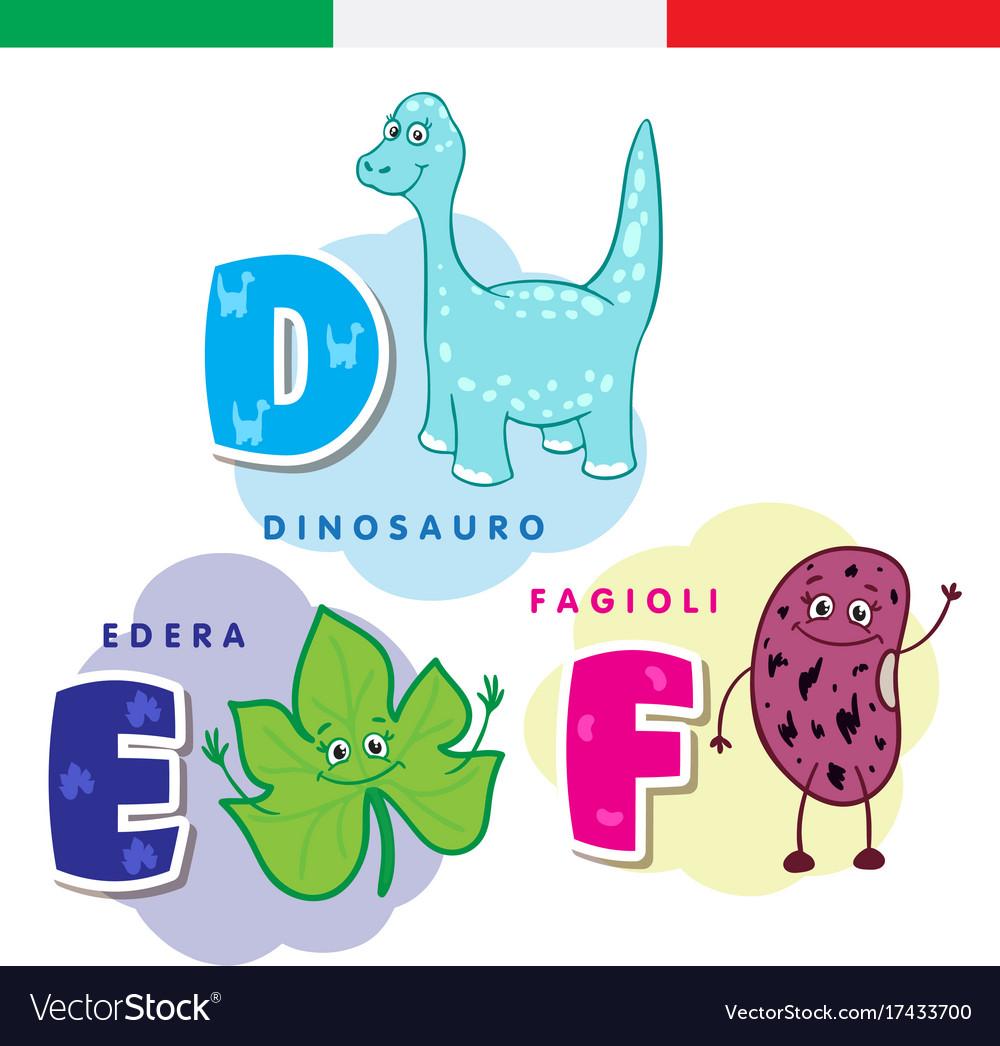 Italian alphabet dinosaur ivy beans