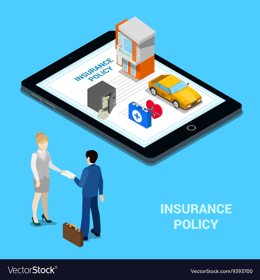 Online Insurance Concept Insurance Services