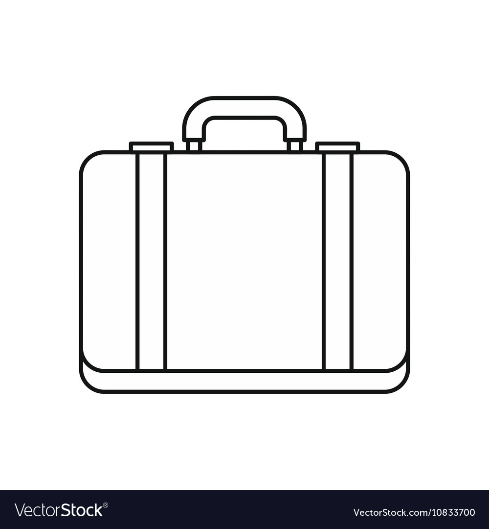 Suitcase icon in outline style