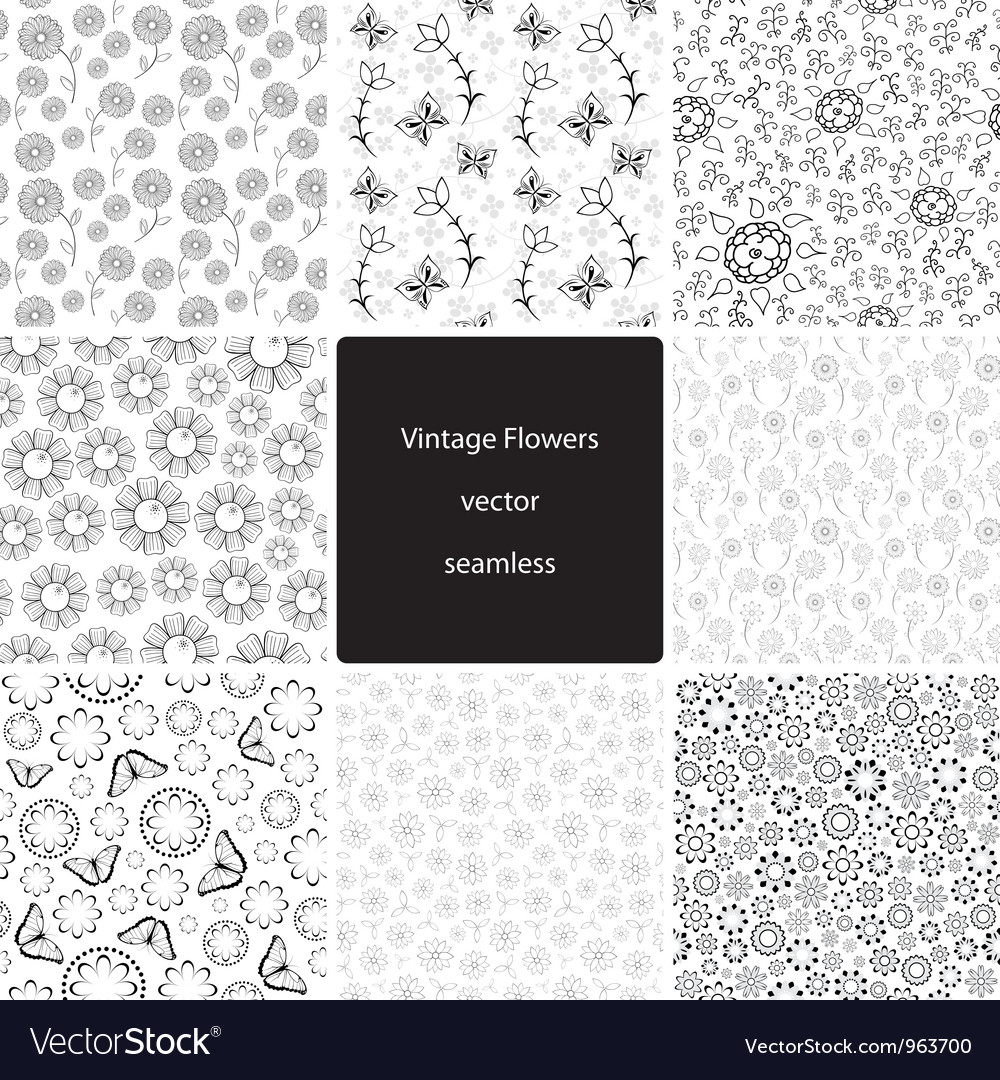 Vintage Fowers Seamless Collection