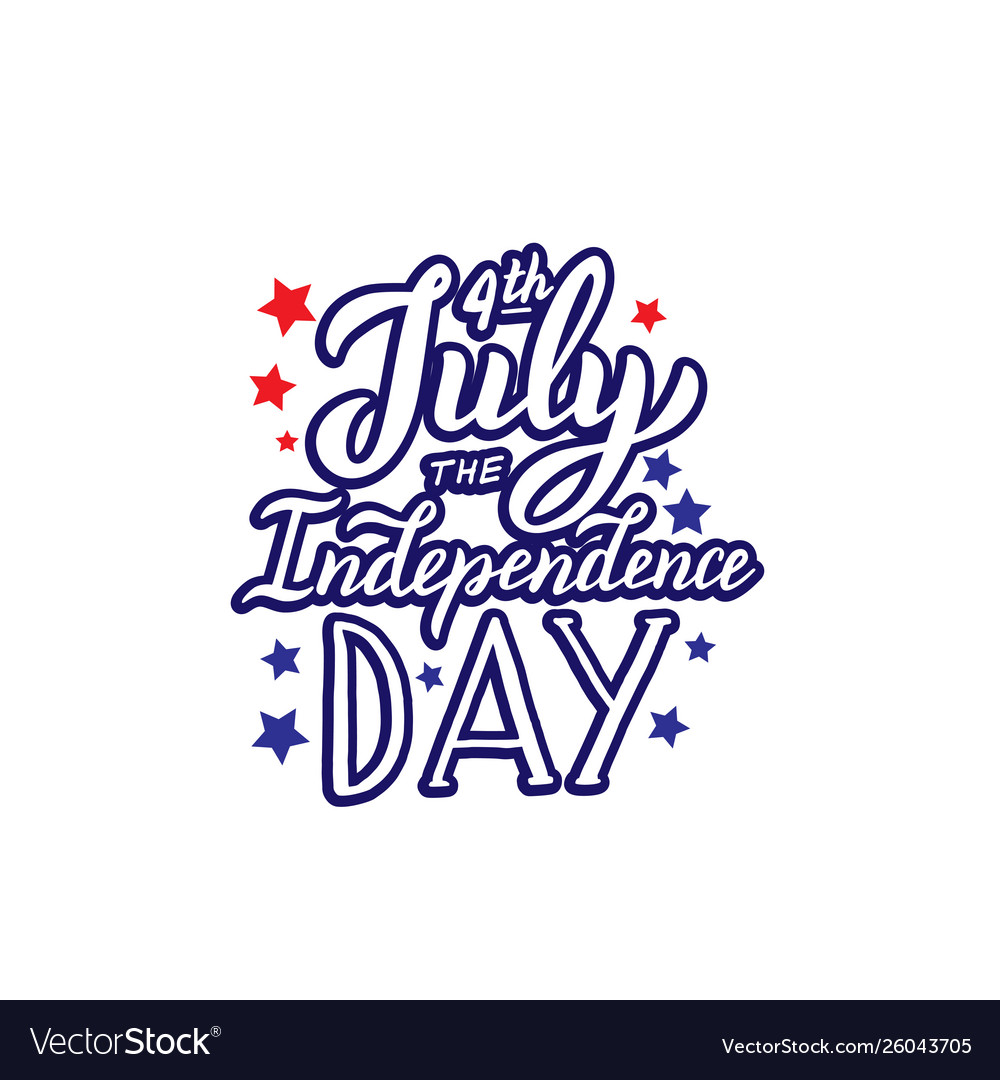 4th july independence day logo lettering
