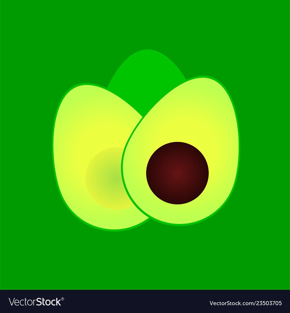Avocado cut in half icon