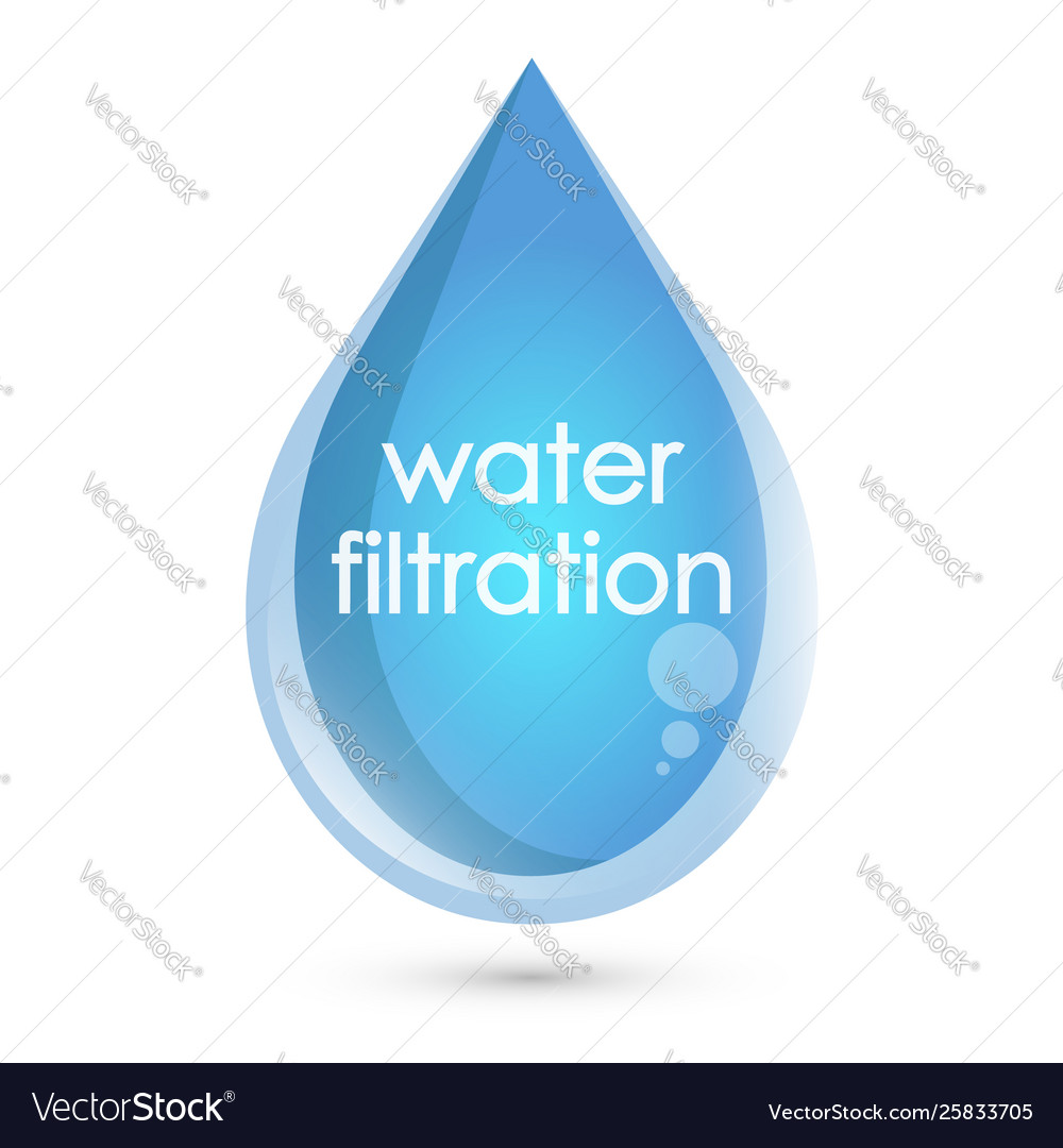 Blue drop water filtration