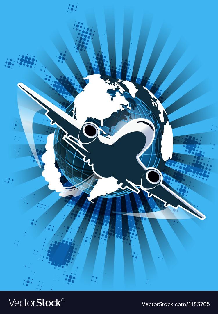 Civil aviation vector image