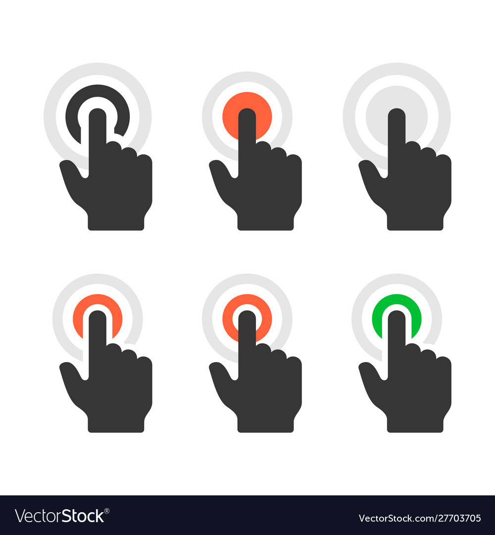 Click icons set on white background