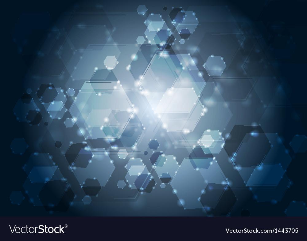 Dark shiny tech backdrop vector image
