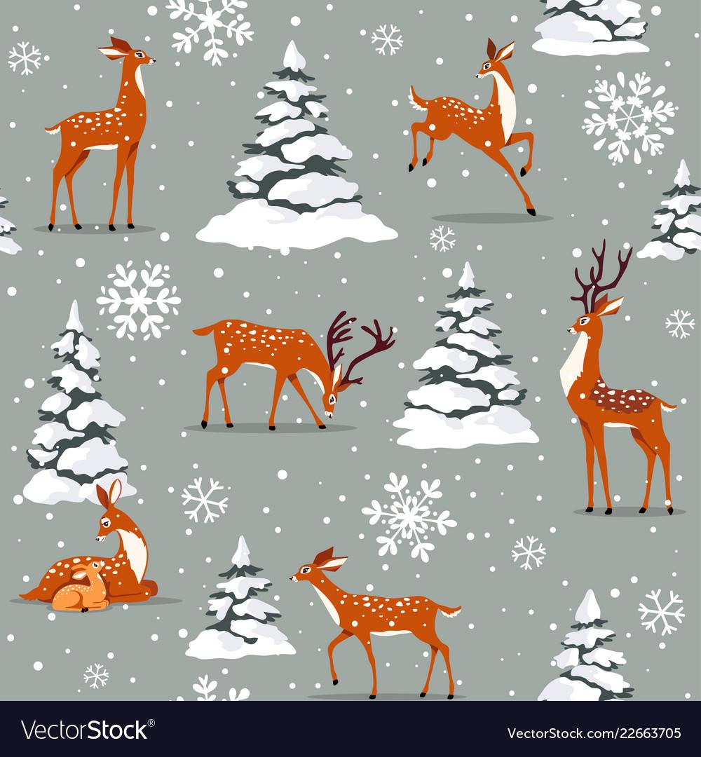 Deer cartoon seamless