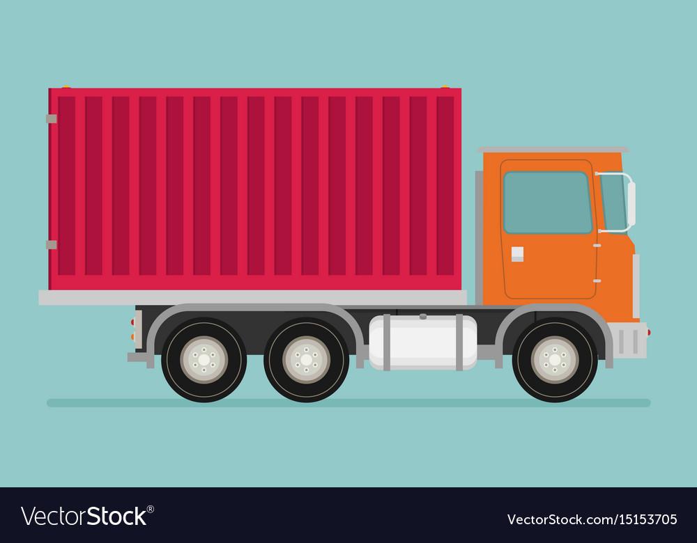 Delivery transport truck van flat