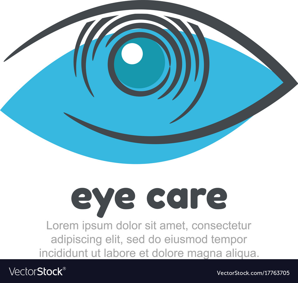 Eye care logo design template
