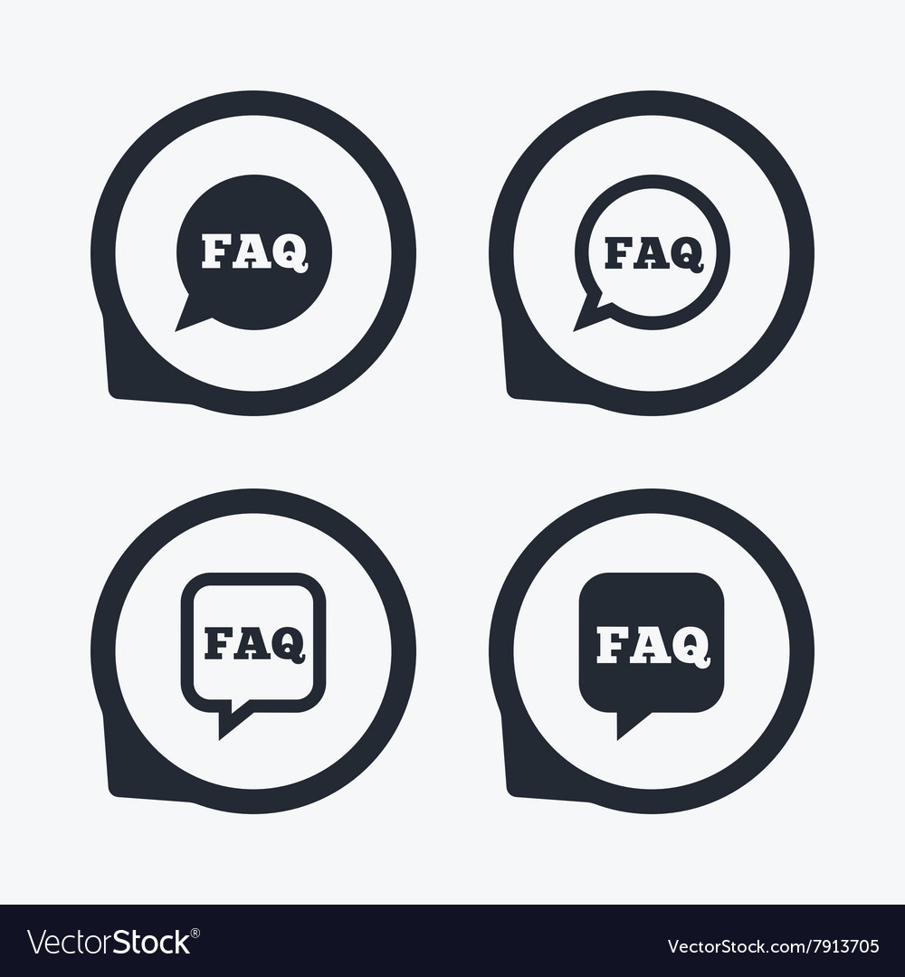 FAQ information signs Help speech bubbles