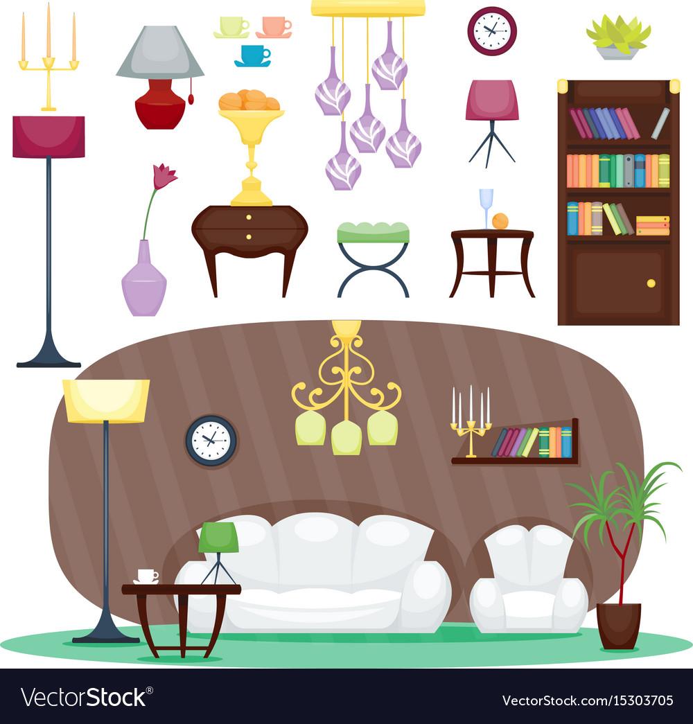 Furniture room interior design home decor concept