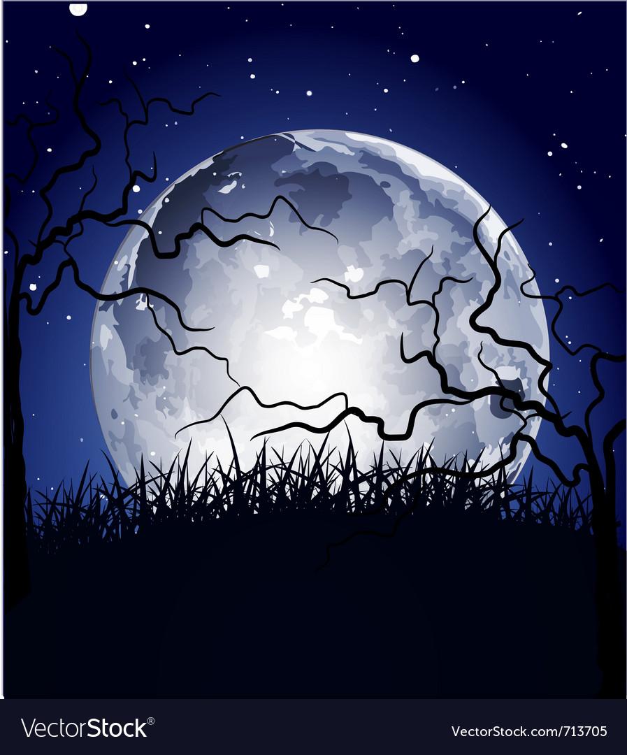Halloween full moon background