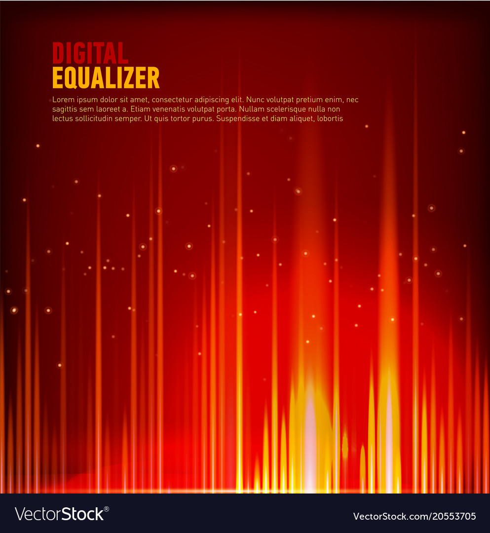 Multi color audio waveform technology background