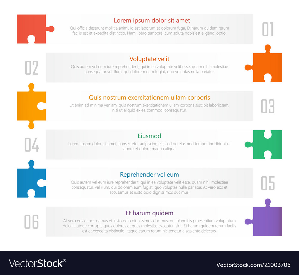 numbered list template chart table design vector image
