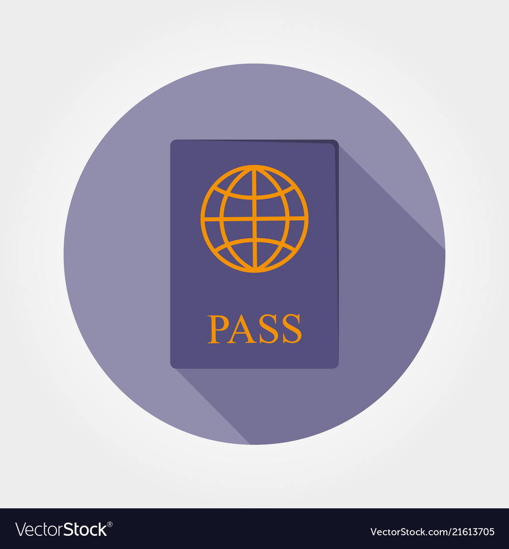 Passport icon flat