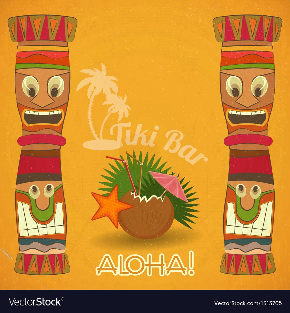 Vintage hawaiian tiki bar