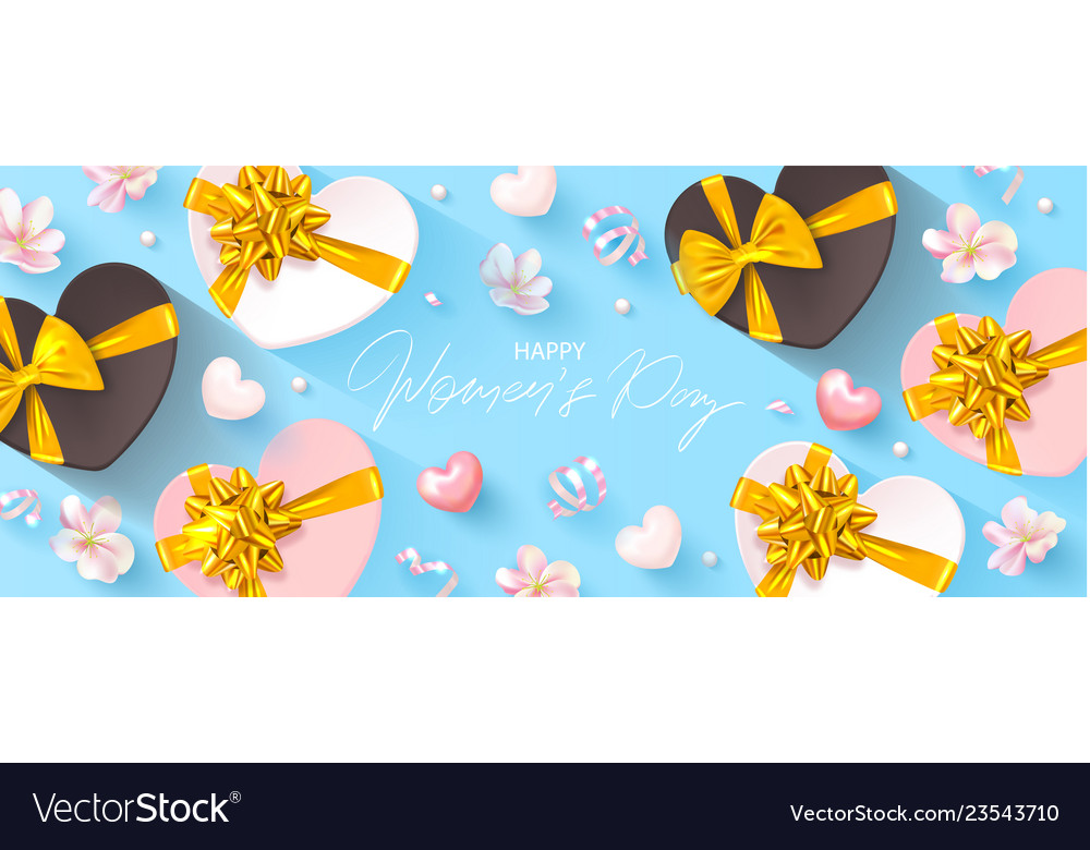 8 march happy women s day banner beautiful blue