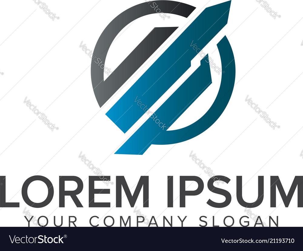 Architectural construction technology logo design