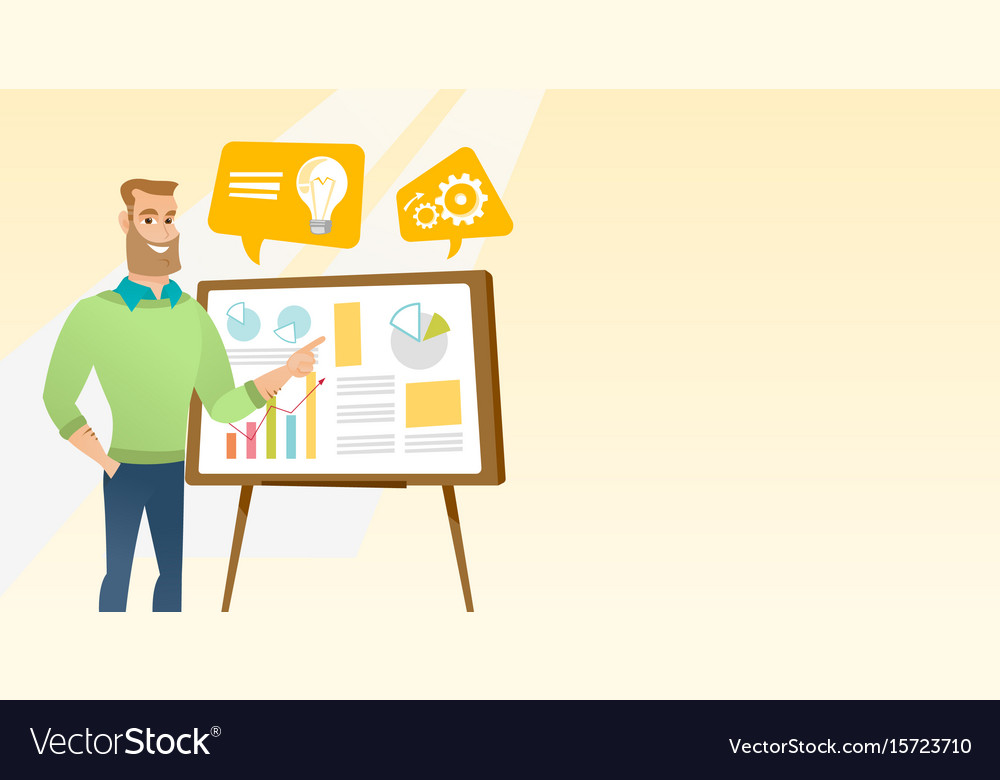 Businessman giving business presentation
