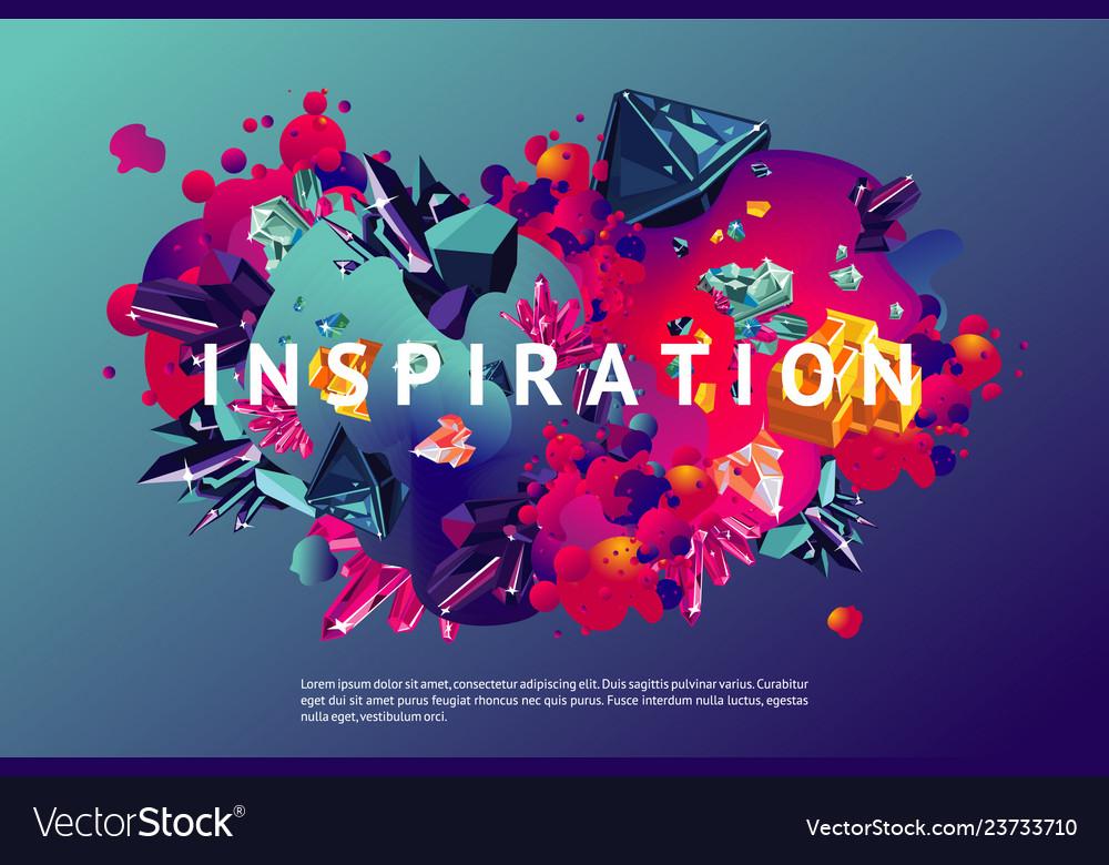 Inspiration trendy poster presentation cover