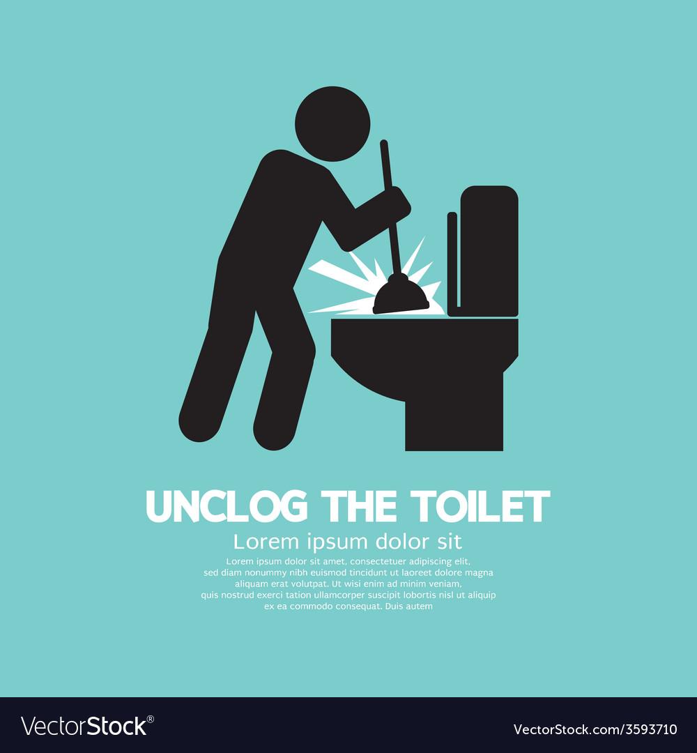 Unclog The Toilet Black Symbol vector image