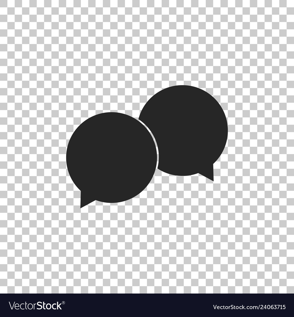 Blank speech bubbles icon isolated