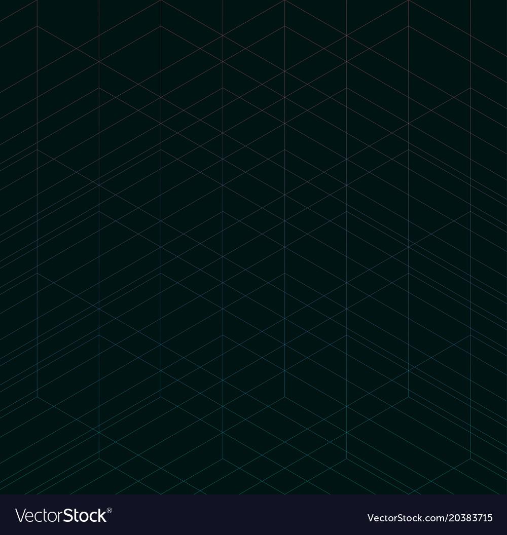 Geometric thin line black background simple vector image