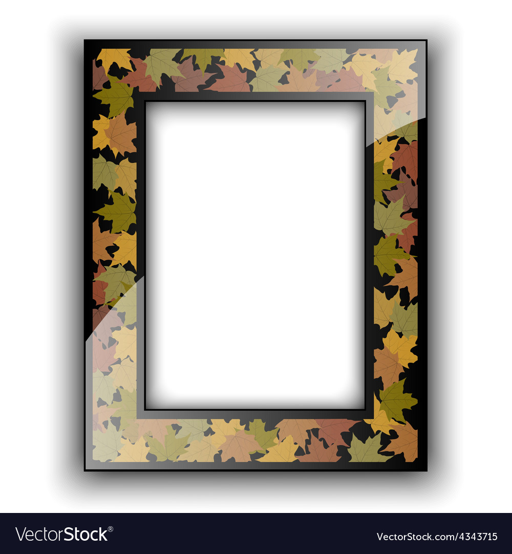 Glass photo frame Autumn design