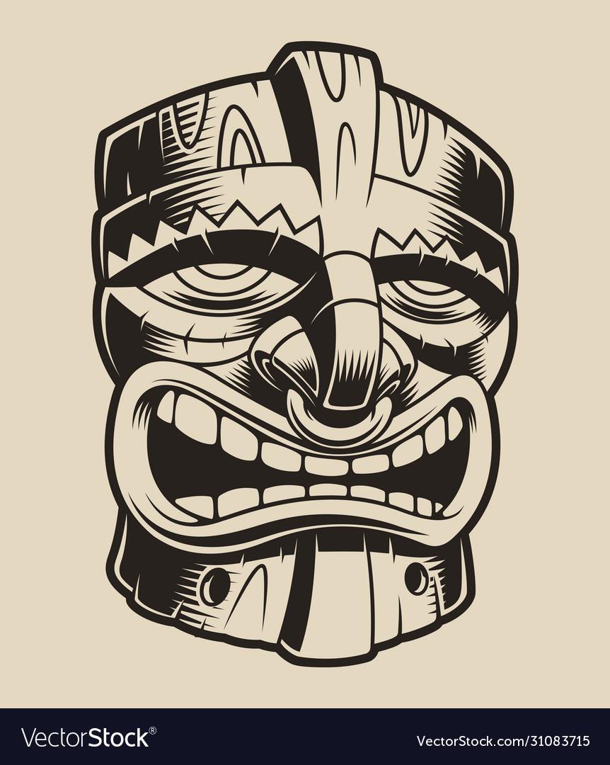 Polyanesian tiki mask