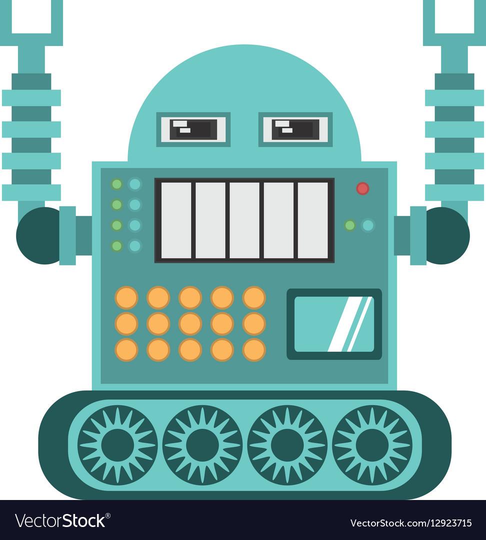 Robotic operator machine technology vector image