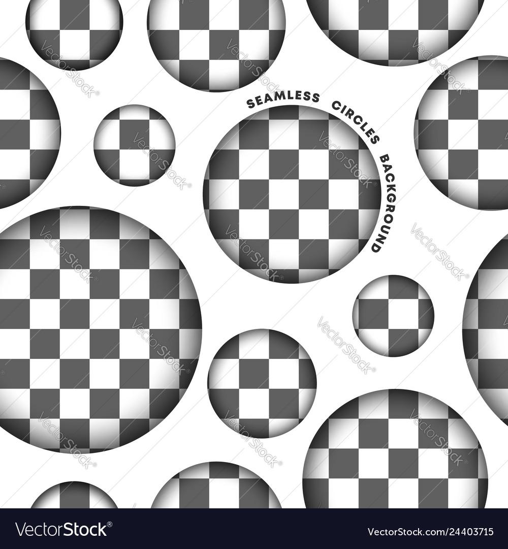 Seamless circle pattern on transparent background