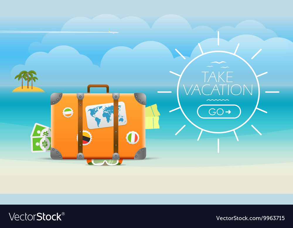 Summer seaside vacation travel vector image
