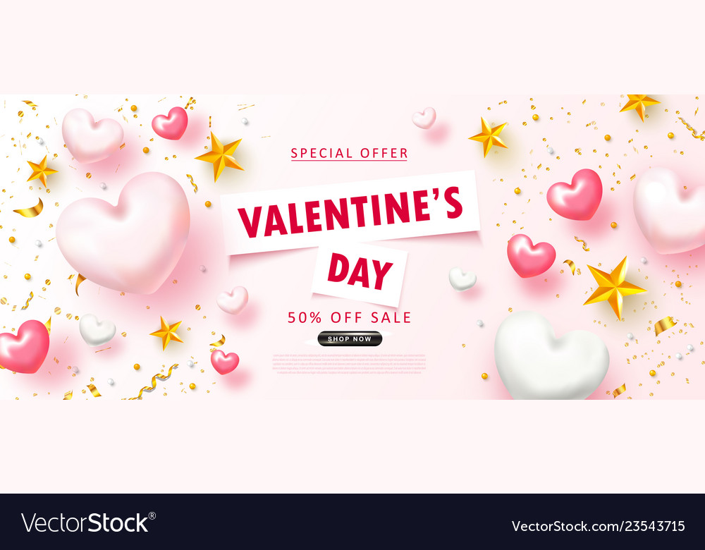 Valentine s day sale backgroundromantic