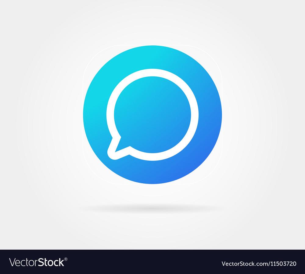 app icon template gradient fresh color royalty free vector