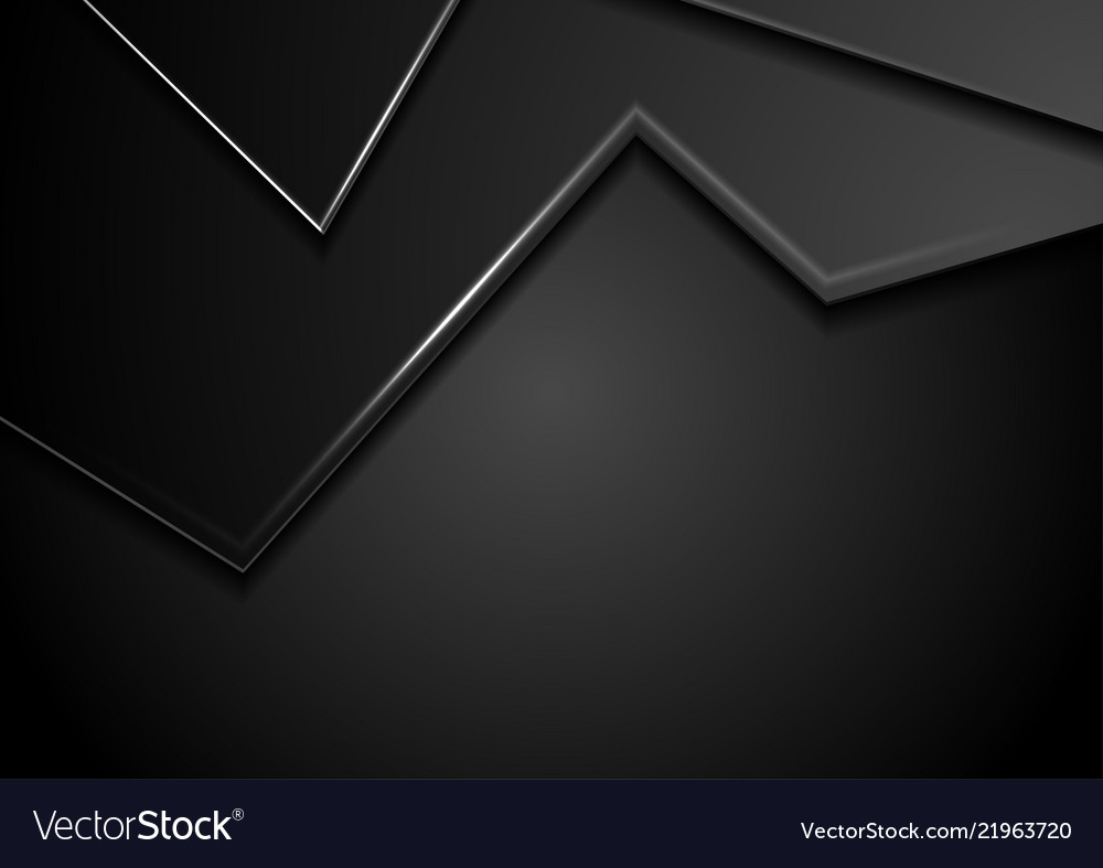 Black abstract corporate background with shiny