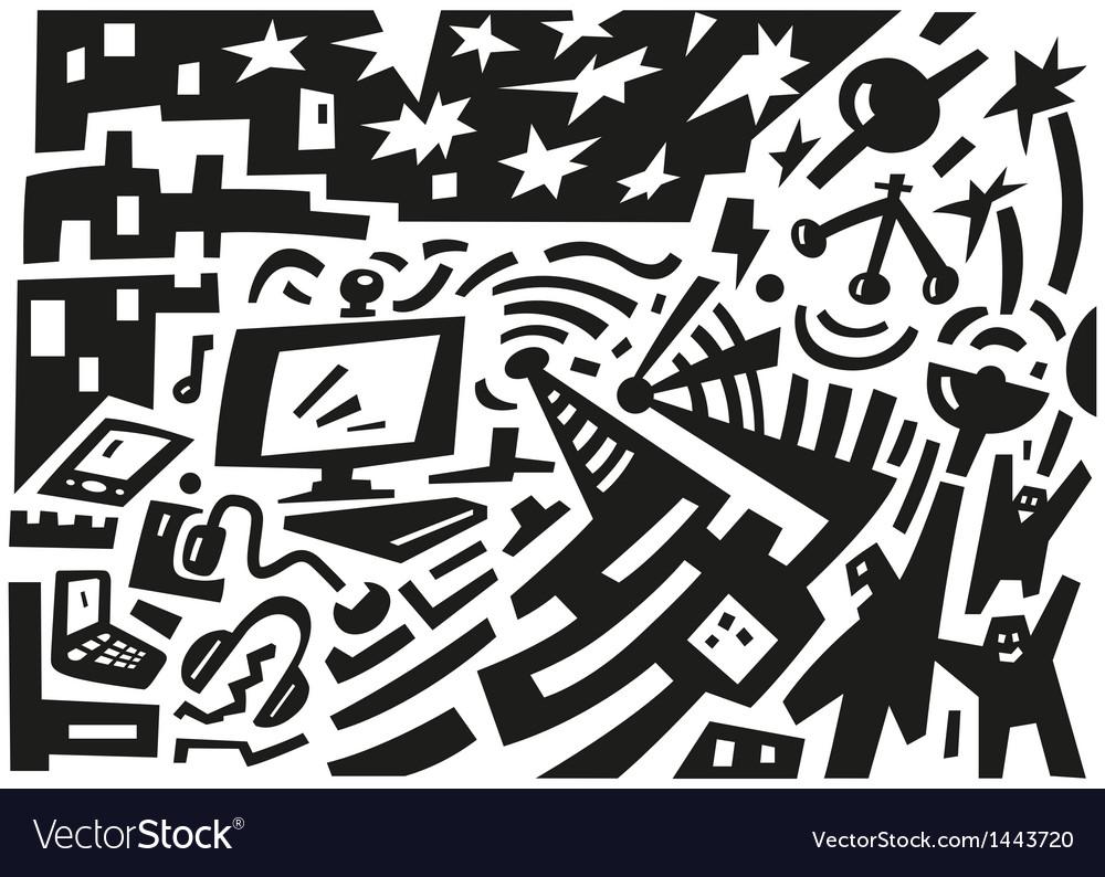 Computerweb vector image