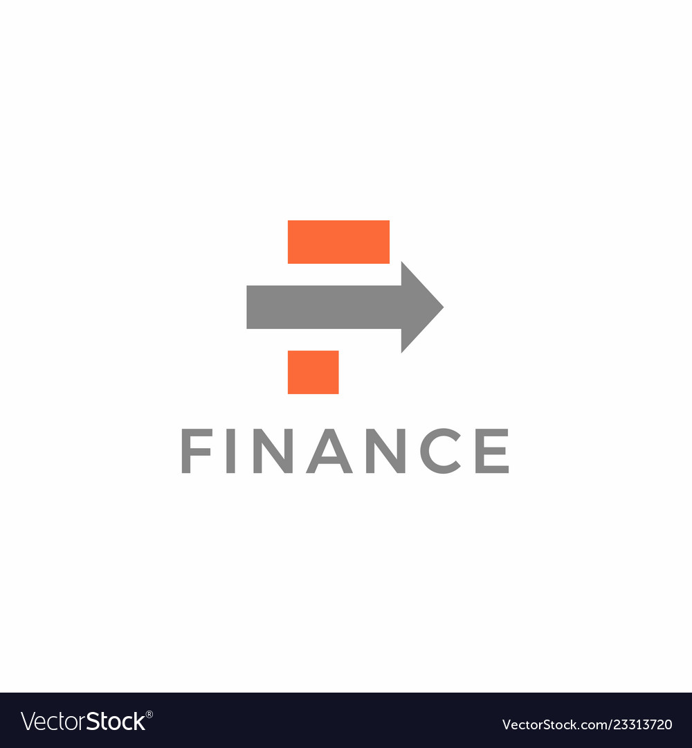 Creative letter f for finance company