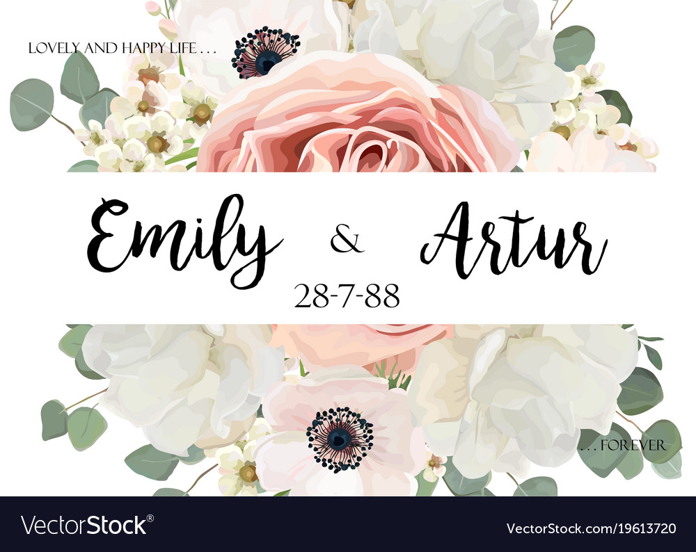 Floral wedding invite save date card design