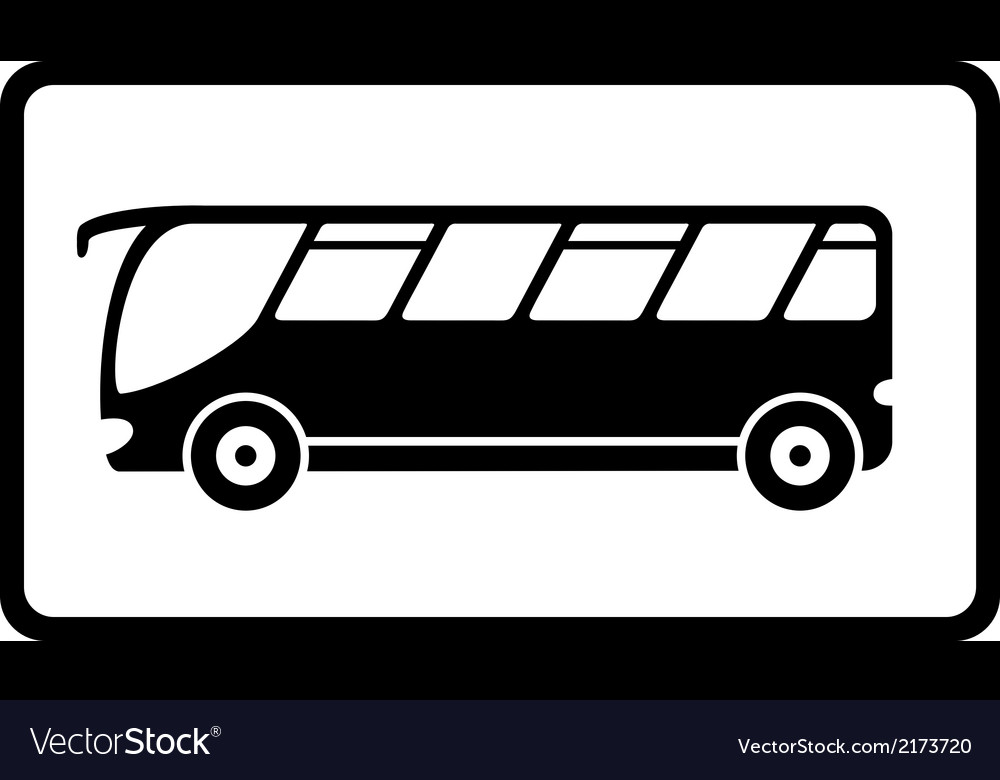 Icon with black isolated bus