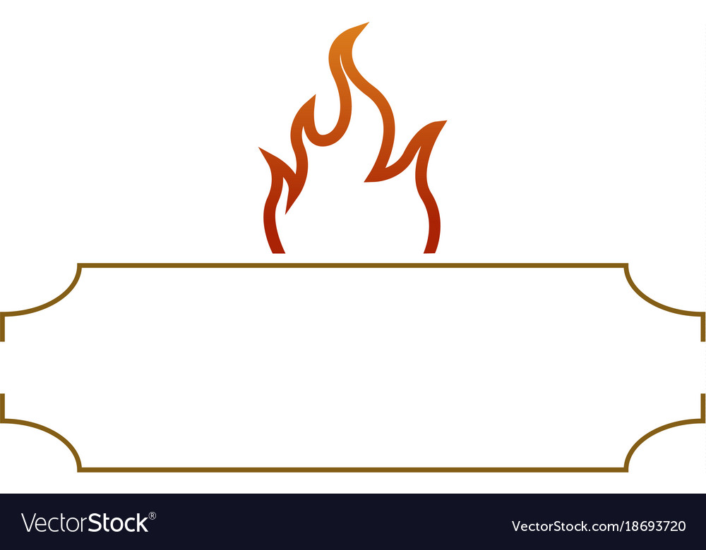 Isolated barbecue label