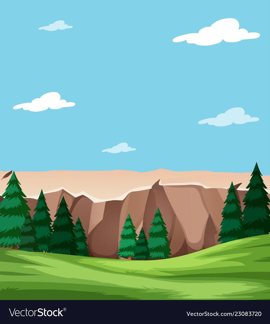Neautiful nature landscape scene