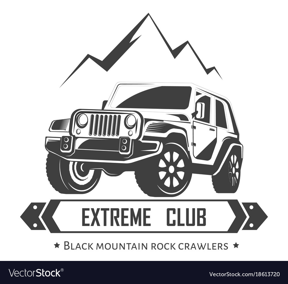 4X4 Off Road >> Off-road 4x4 extreme car club logo template Vector Image