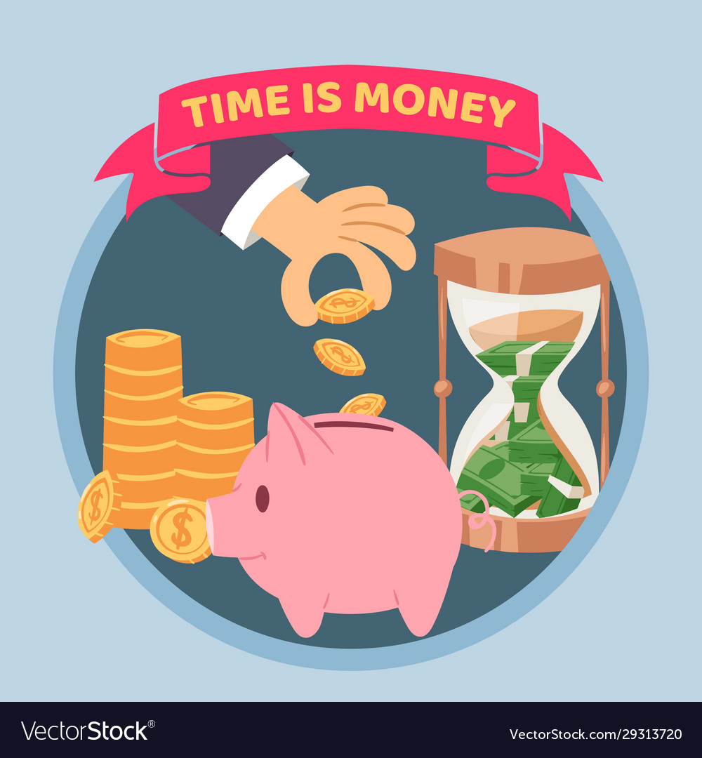 Time is money blue poster