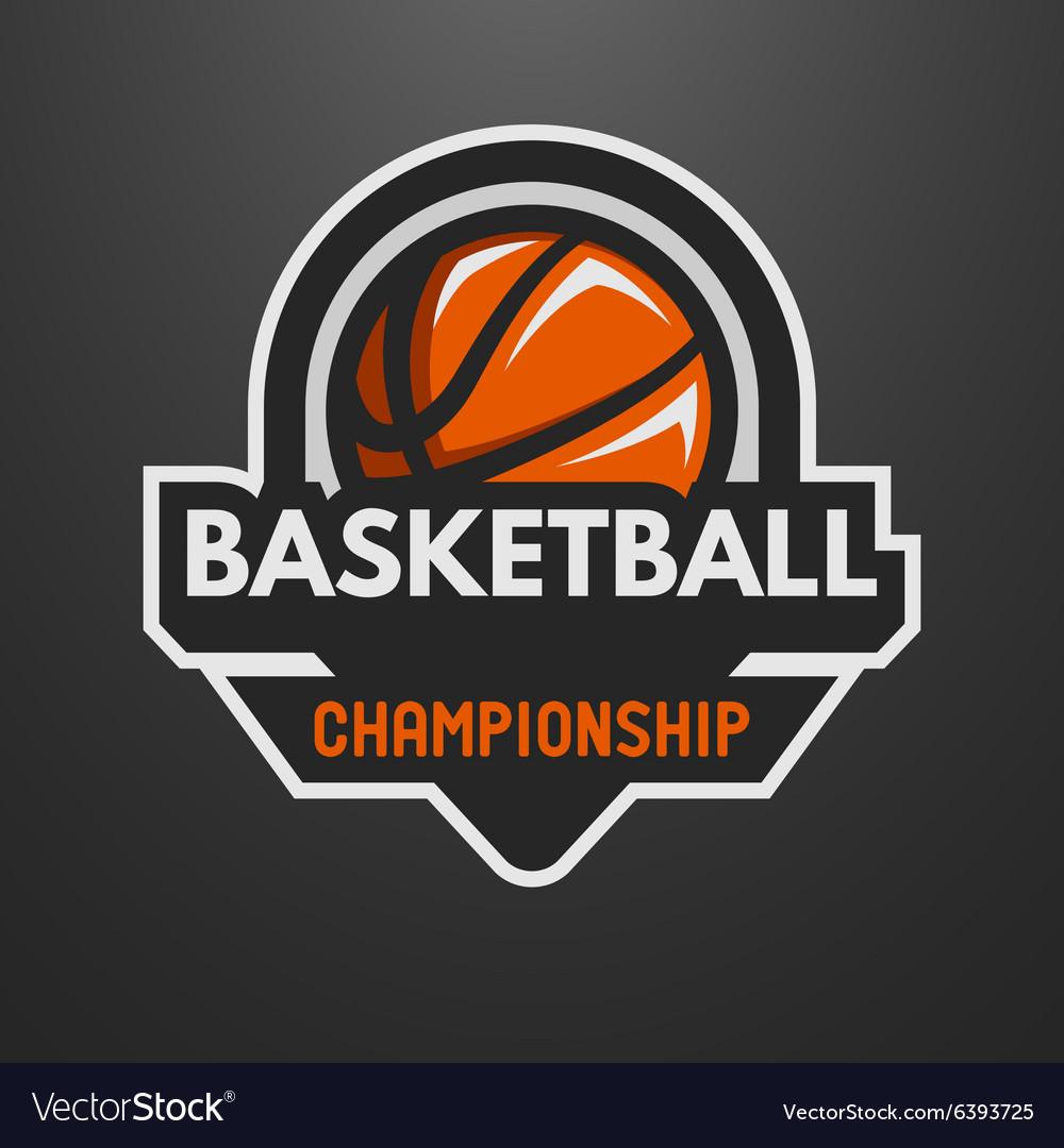 Basketball sports logo label emblem