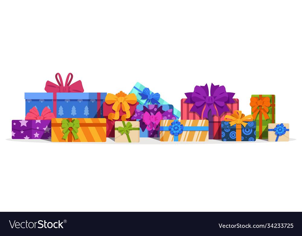 Gift boxes christmas present and birthday gift