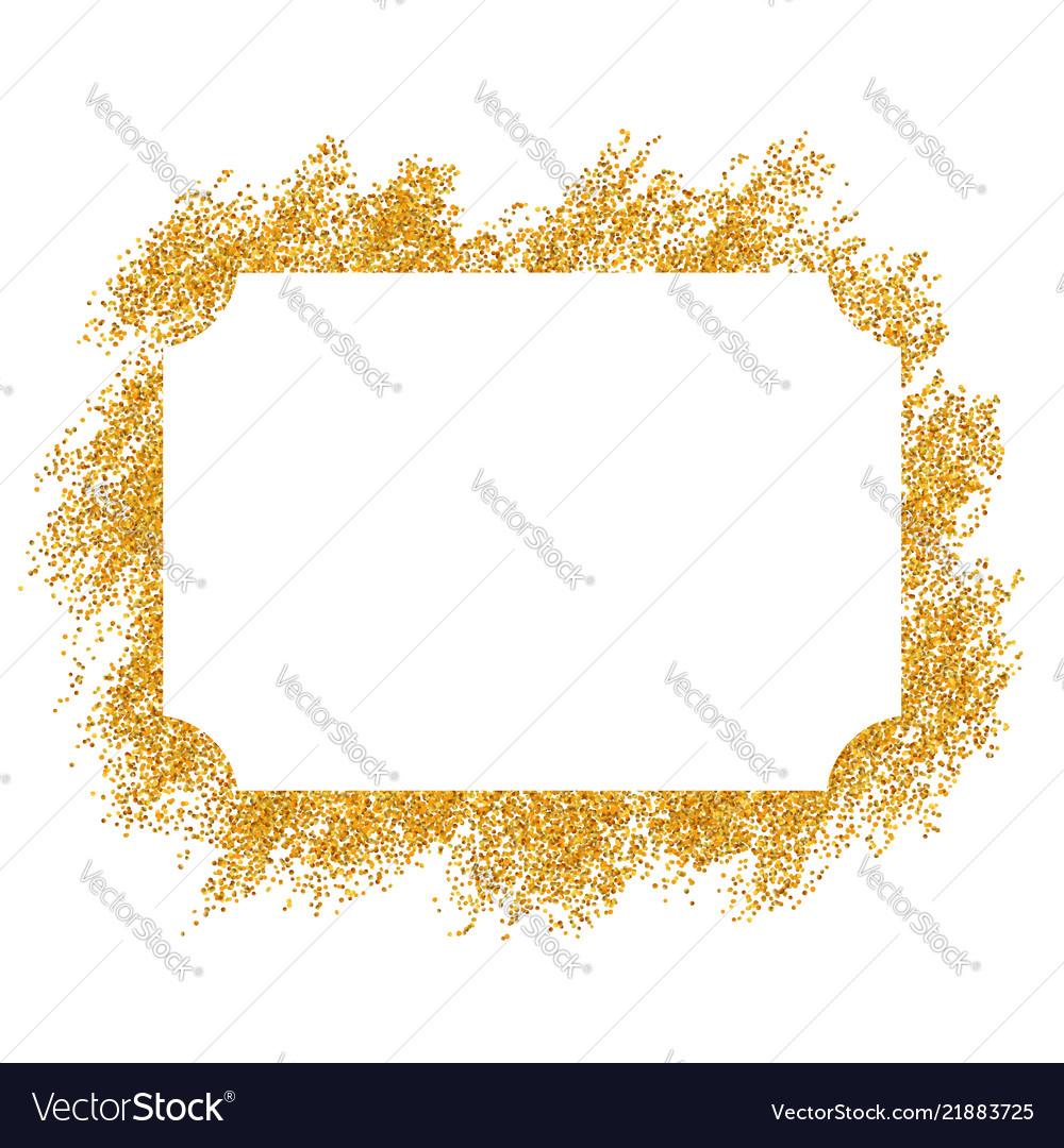 Gold frame beautiful golden glitter design