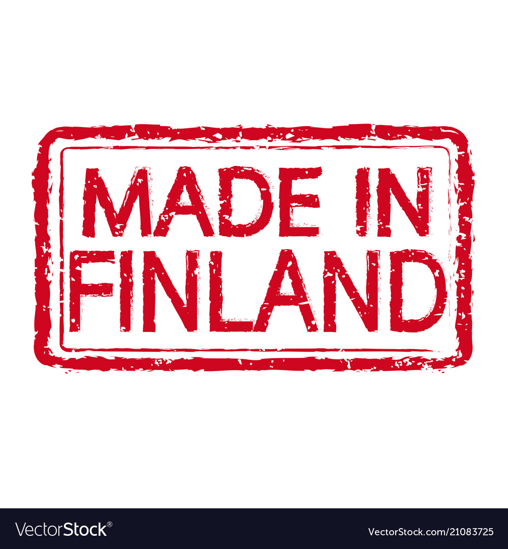 Made in finland stamp text