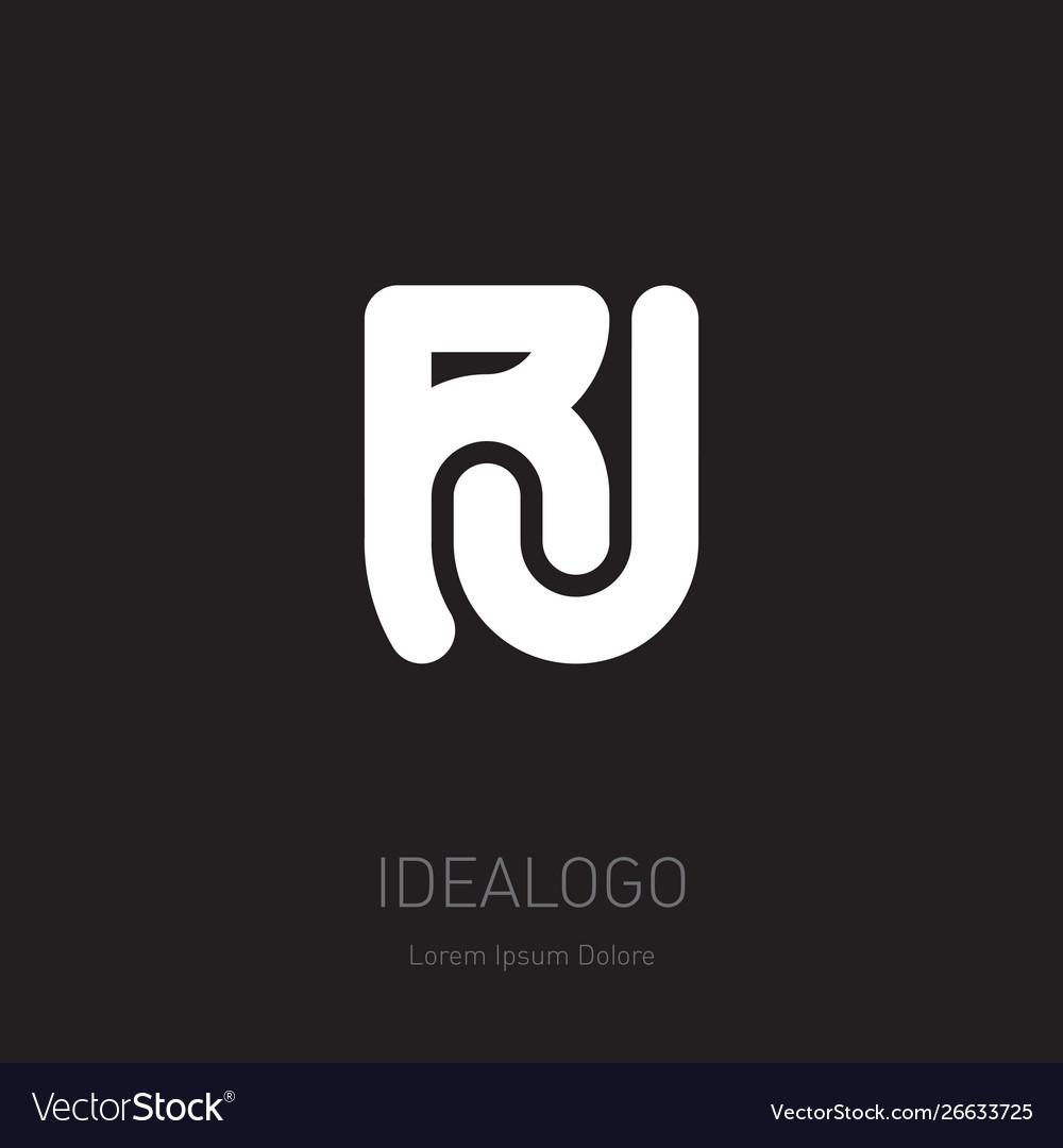 R and j initial logo rj initial monogram logotype