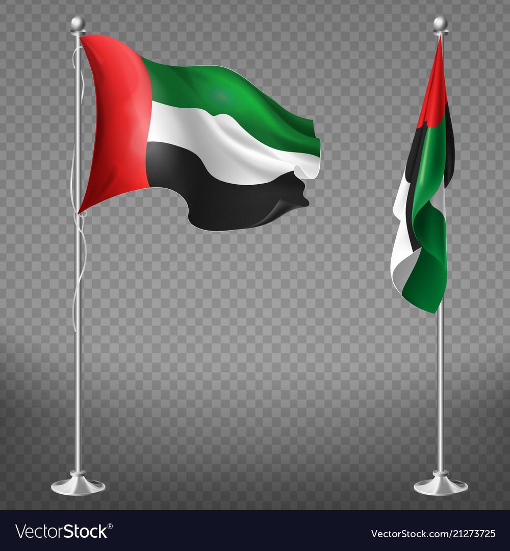 Realistic flags of united arab emirates